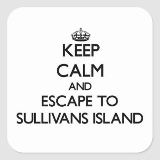 Keep calm and escape to Sullivans Island South Car Square Sticker