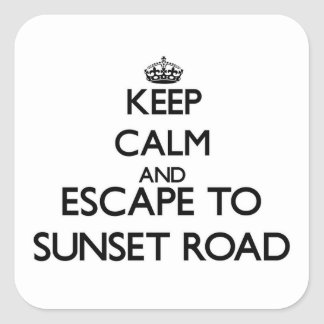 Keep calm and escape to Sunset Road Massachusetts Square Sticker