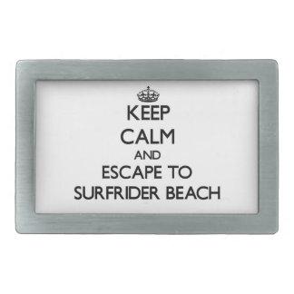 Keep calm and escape to Surfrider Beach California Belt Buckle