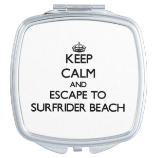 Keep calm and escape to Surfrider Beach California Vanity Mirrors