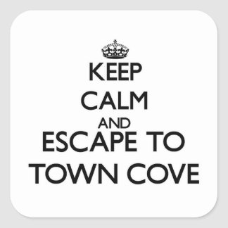 Keep calm and escape to Town Cove Massachusetts Square Sticker