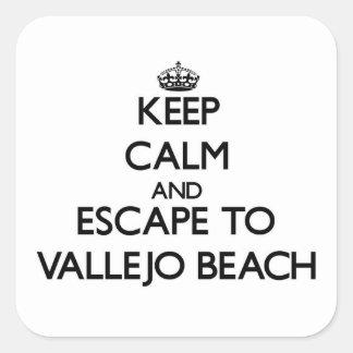 Keep calm and escape to Vallejo Beach California Square Sticker
