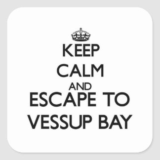 Keep calm and escape to Vessup Bay Virgin Islands Square Sticker