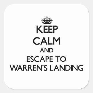 Keep calm and escape to Warren'S Landing Massachus Sticker