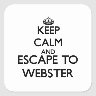 Keep calm and escape to Webster New Jersey Square Sticker