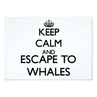 Keep calm and escape to Whales Massachusetts Custom Invitations
