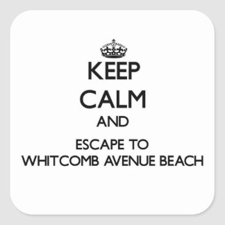 Keep calm and escape to Whitcomb Avenue Beach Wisc Square Sticker