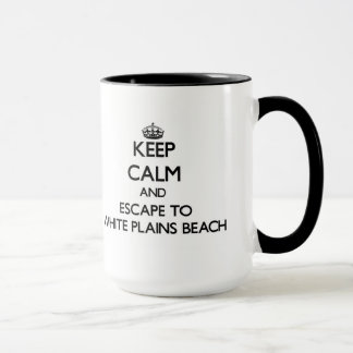 Keep calm and escape to White Plains Beach Hawaii Mug