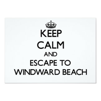 Keep calm and escape to Windward Beach New Jersey 5x7 Paper Invitation Card