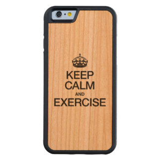 KEEP CALM AND EXERCISE CARVED® CHERRY iPhone 6 BUMPER