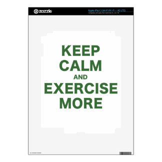 Keep Calm and Exercise More iPad 3 Decals