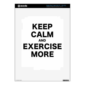 Keep Calm and Exercise More iPad 3 Skins