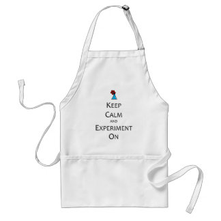 Keep Calm and Experiment On Adult Apron