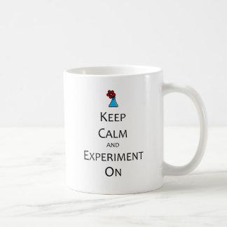 Keep Calm and Experiment On Classic White Coffee Mug