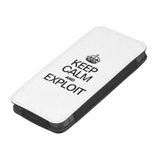 KEEP CALM AND EXPLOIT iPhone 5 POUCH