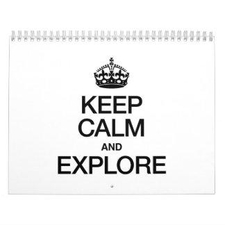KEEP CALM AND EXPLORE WALL CALENDARS