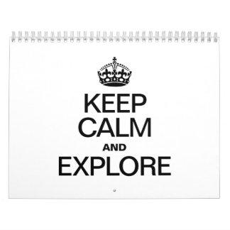 KEEP CALM AND EXPLORE CALENDAR
