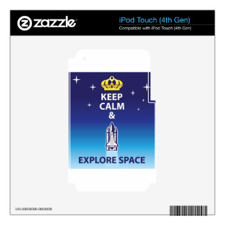 Keep Calm and Explore Space iPod Touch 4G Skins