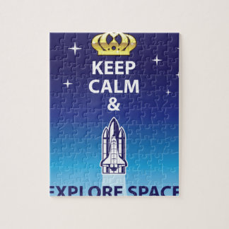 Keep Calm and Explore Space Jigsaw Puzzle