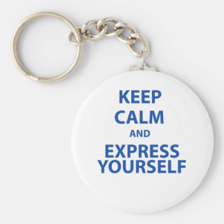 Keep Calm and Express Yourself Keychain