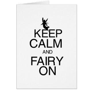 Keep Calm and Fairy On Card