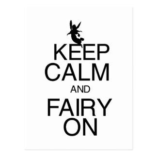 Keep Calm and Fairy On Postcard