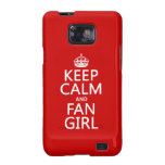 Keep Calm and Fan Girl (in all colors) Galaxy SII Case