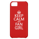 Keep Calm and Fan Girl (in all colors) iPhone 5C Cases