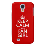 Keep Calm and Fan Girl (in all colors) Samsung Galaxy S4 Covers