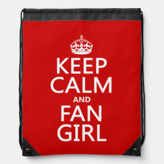Keep Calm and Fan Girl (in all colors) Drawstring Backpack