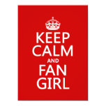 Keep Calm and Fan Girl (in all colors) 5.5x7.5 Paper Invitation Card