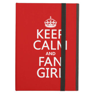 Keep Calm and Fan Girl (in all colors) iPad Covers