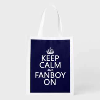 Keep Calm and Fanboy On (in any color) Market Totes