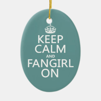 Keep Calm and Fangirl On (in all colors) Christmas Tree Ornaments