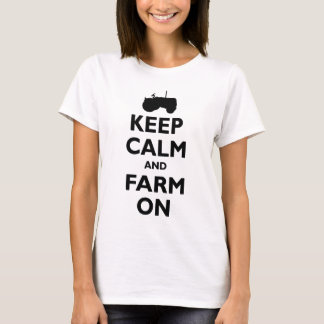 keep Calm and Farm On Funny Tractor Southern Texas T-Shirt