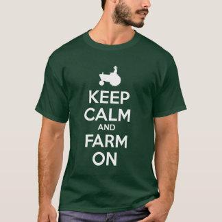 Keep Calm and Farm On t shirt