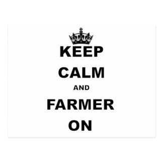 KEEP CALM AND FARMER ON POSTCARD
