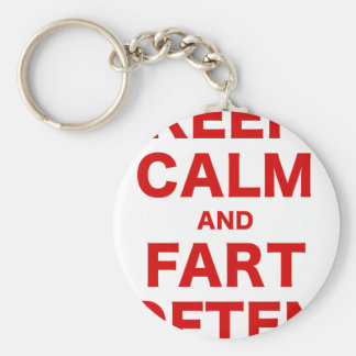 Keep Calm and Fart Often Basic Round Button Keychain