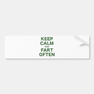 Keep Calm and Fart Often Bumper Sticker
