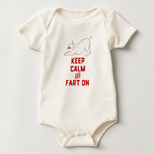 Keep Calm And On With The Cute French Bulldog Baby Bodysuit