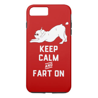 Keep Calm and Fart On with the cute French Bulldog iPhone 7 Plus Case