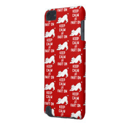 Keep Calm and Fart On with the cute French Bulldog iPod Touch 5G Cover