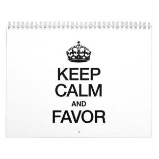 KEEP CALM AND FAVOR CALENDAR