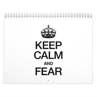 KEEP CALM AND FEAR CALENDAR