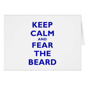 Keep Calm and Fear the Beard Card