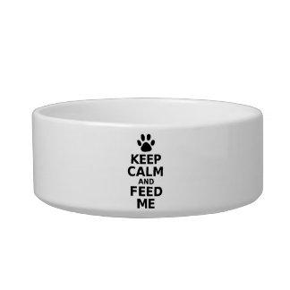 Keep Calm And Feed Me Dog Bowl