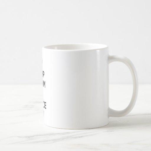 Keep Calm and Fence On Classic White Coffee Mug