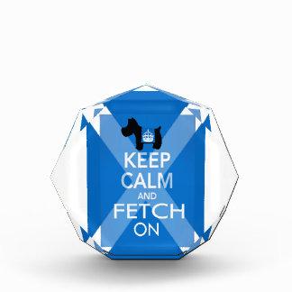 Keep Calm and Fetch On Scotland Flag Acrylic Award