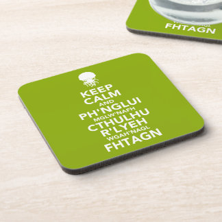 Keep Calm and Fhtagn Coasters