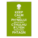 Keep Calm and Fhtagn Greeting Card